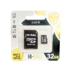 Карта памяти HI-RALI 32 Гб class 10 с адаптером